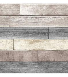Faux 7 25 Quot Wide White Washed Wood Planks Wallpaper Ll29501