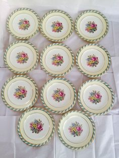 "Antique Rare Signed 10"" Cauldon England Cabinet Dinner Plates -  | eBay"