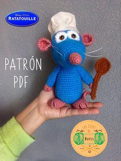 Mira este artículo en mi tienda de Etsy: https://www.etsy.com/es/listing/583364009/ratatouille-crochet-pattern