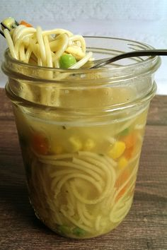 Cup Noodles Knockoff... 10 minutes to prep as many jars as you'd like to freeze ahead... 3 minutes to microwave! Make it yourself and make it MSG-free, BPA-free gluten-free Dairy-Free, vegan, vegetarian, lower sodium or however the heck you want it.