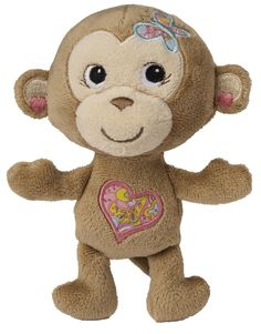 Mary Meyer Maddie Monkey so cute.  http://www.amazon.com/Mary-Meyer-Maddie-Monkey-Rattle/dp/B00J0YSEUK/ref=as_sl_pc_tf_ssw?&linkCode=wss&tag=lovlitbub-20