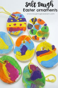 Simple salt dough recipe to create decorations and keepsakes. Here we share salt dough Easter ornaments kids can make and paint. Fun activity for kids. Easter Art, Easter Crafts For Kids, Toddler Crafts, Easter Ideas, Kid Crafts, Easter 2015, Easter Projects, Bunny Crafts, Easter Recipes