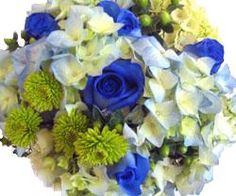Green and Blue Bridesmaid Bouquet