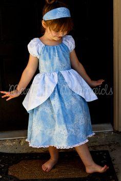 Princess Aprons, Princess Dresses, Cinderella Princess, Play Dress, Dress Up, Little Girl Dresses, Flower Girl Dresses, Peasant Dress Patterns, Everyday Princess