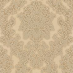 Vicenza Damask Gold (270403) - Arthouse Wallpapers - A bold Italian vinyl, decorative damask design. Shown here in metallic warm gold with glitter. Other colourways are available. Please request a sample for true colour match.