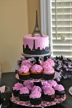Trendy birthday cake ideas for teens girls sweet sixteen pink - Party Ideen Paris Birthday Cakes, Paris Themed Birthday Party, 13th Birthday Parties, Birthday Party Themes, Spa Birthday, Cake Birthday, Barbie Birthday, Themed Parties, 11th Birthday