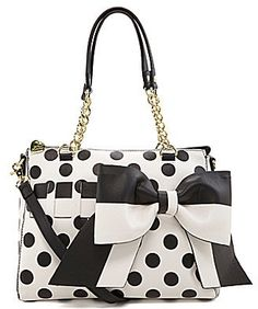 Betsey Johnson Gift Me Baby Polka Dot Convertible Satchel on shopstyle.com