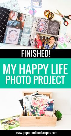 """See how our """"My Happy Life"""" Photo Projects turned out :) We would love to see yours! - by Paper and Landscapes"""