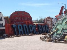 The @The Neon Museum and Boneyard in #LasVegas: A fabulous collection of Old #vintage #neon signs from Las Vegas' past life, Great idea for engagement or wedding photo session, photos courtesy of www.lepapillonevents.com