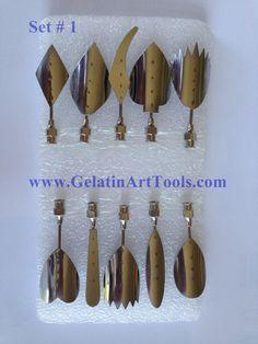 Gelatina Arte Tools Número 1. conjunto de 10 agulhas - gelatina Ferramentas Arte - 1