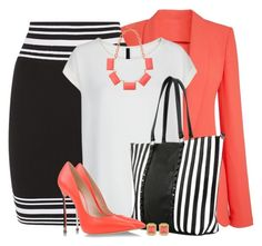Black & White Stripes for Spring by brendariley-1 on Polyvore featuring MANGO, Balmain, Casadei, Chicnova Fashion, Oasis and Sequin