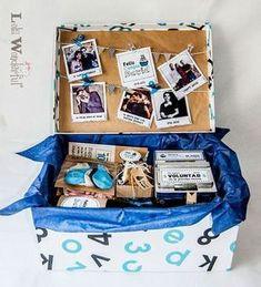 DIY Personalized Gift Baskets DIY Personalized Gift Basket For Anyone, Girlfriend, Kids, Mom Etc - Owe Crafts Birthday Box, Birthday Presents, Cute Gifts, Diy Gifts, Personalised Gifts Diy, Diy Cadeau, Idee Diy, Original Gifts, Boyfriend Birthday