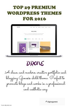 Top 29 Premium WordPress Themes - The Drone Theme.  See more themes here - http://zigzagpress.com/themes/