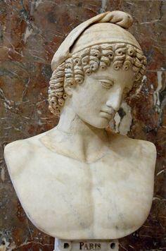 Ancient Roman Portrait of Ganymede. 2nd century CE, Pentelic marble.