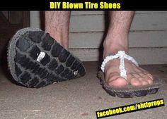 SHTF Preparedness - DIY Blown Tire Shoes.