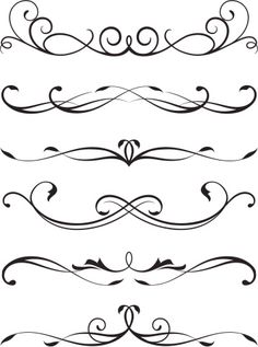 Dr Tattoo, Tattoos, Pinstriping Designs, Decorative Lines, Tattoo Lettering Fonts, Graphic Design Pattern, Stencil Patterns, Scroll Design, Arabesque