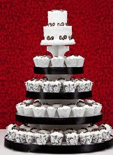 Boutique Wedding Cake from Safeway sub red piping Vendors