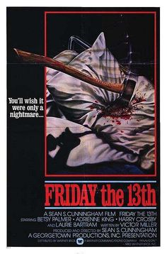 Film Friday The 13th, Adrienne King, Classic Horror Movies, Horror Movie Posters, Famous Movies, Scary Stories, Vintage Halloween, Retro, Art Inspo