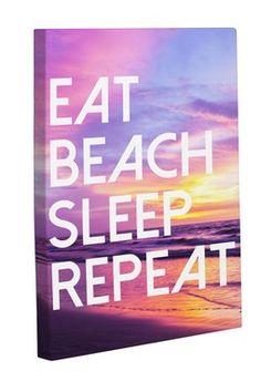 Eat Beach Sleep Repeat Multi Canvas Art