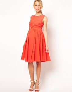 Maternity Dresses For Baby Showers: ASOS knot-front dress