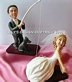 Custom Hobby and Sport Cake Toppers Ideas with special handmade attires and themes, See Slideshow