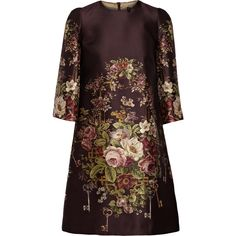Dolce & Gabbana continues to explore Sicily's medieval past, shown through the floral and key motifs printed on this silk and wool-blend mini dress. Lined in s…