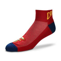 Men's For Bare Feet Cleveland Cavaliers The Cuff Low-Cut Socks, Multicolor