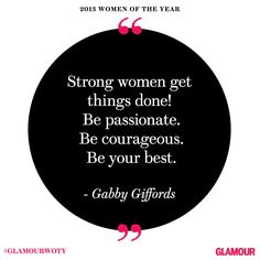 Gabby Giffords at #GlamourWOTY