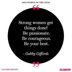 Gabby Giffords at #GlamourWOTY