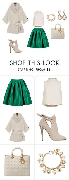 """""""Point? Green."""" by itsurluckycharm ❤ liked on Polyvore featuring TIBI, Jimmy Choo, Christian Dior, Forever 21, women's clothing, women's fashion, women, female, woman and misses"""