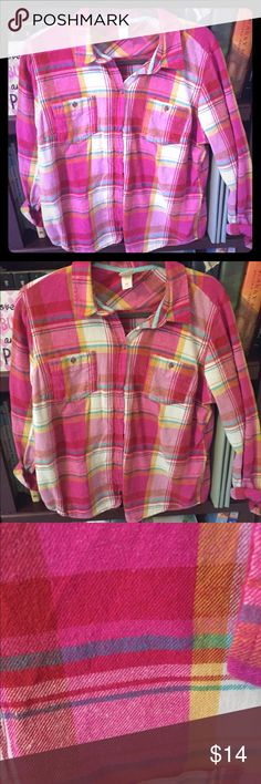 Pink flannel shirt This pink flannel shirt is super comfy. Worn in, but good condition. Mossimo Supply Co. Tops