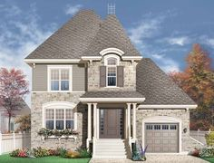 Eplans+Chateau+House+Plan+-+Elegant+Narrow+Lot+Home+-+1733+Square+Feet+and+3+Bedrooms+from+Eplans+-+House+Plan+Code+HWEPL13532
