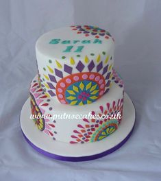 Desigual designer cake, lots of colour and fun to make
