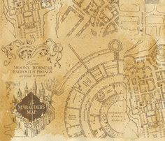 photo regarding Marauders Map Printable Pdf titled Harry Potters Marauders Map PDF Cross Sch Routine