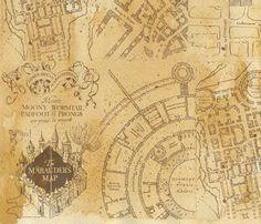 photo regarding Marauders Map Printable Pdf titled Harry Potters Marauders Map PDF Cross Sch Routine
