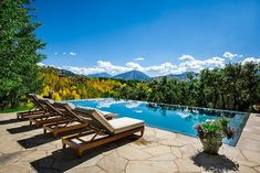 Get a glimpse of the forest canopy from your pool deck in style! [From: Cody…