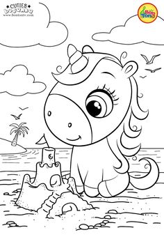 Cuties Coloring Pages for Kids – Free Preschool Printables – Slatkice Bojanke – Cute Animal Coloring Books by BonTon TV Unicorn Coloring Pages, Cute Coloring Pages, Coloring Pages For Girls, Animal Coloring Pages, Coloring For Kids, Coloring Books, Art Drawings For Kids, Drawing For Kids, Art For Kids