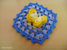 Crochet Butterfly Square Pattern - like how it pops up off the block!