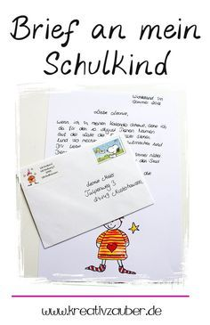 Wichtel Brief an mein Schulkind. Als Geschenk und Überraschung zum ersten Schultag. #schule #einschulung