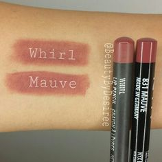 A Dupe for MAC's 'Whirl' lipliner is @Nyxcosmetics lipliner in 'Mauve'. Instagram: @BeautyByDesiree