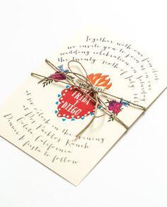 Destination Wedding Invitations - Frida Kahlo Inspired Summer - Mexican Corazon Sacred Heart – Wedding Invitation (Frida Suite)