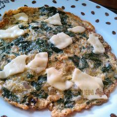 spinach and cheese omelette.. Healthy tasty and quick breakfast.