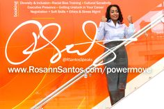 Rosann Santos is a bilingual Spanish/English virtual coach, virtual keynote speaker, and Gallups Strengths Coach based in New York City who believes in achieving success and self-efficacy through positive psychology and positive reinforcement. Too often we view ourselves through a deficit lens. It is much more effective to view yourself and others through a strengths-based lens. She is one of the top keynotes and training coaches for Executive Presence, Diversity & Inclusion, Racias Bias and… Student Leadership, Leadership Conference, Student Success, Executive Presence, Social Capital, Self Efficacy, Staff Training, Higher Learning, Saints