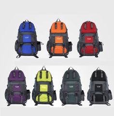 Unisex 50L Sport Hiking Backpack Big Capacity Outdoor Camping Travel Bag Nylon