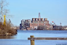 Haven't done this in a while. Photo of the old Public Service Gas and Electric Company's power plant on the bank of the Delaware River in Burlington, NJ.