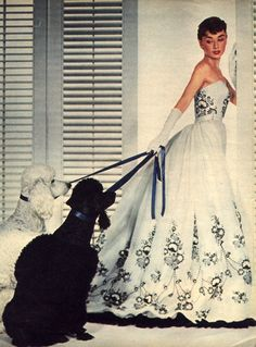 """Remembering Hubert de Givenchy: Audrey Hepburn in Givenchy Haute Couture in her film """"Sabrina"""", © Bud Fraker/Paramount Audrey Hepburn Sabrina, Audrey Hepburn Pictures, Audrey Hepburn Style, Hollywood Glamour, Old Hollywood, Hollywood Cinema, Divas, White Wedding Gowns, White Bridal"""
