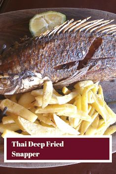 Recipes by Vance: Thai Deep Fried Snapper Herbed Potatoes, Stewed Potatoes, Best Seafood Recipes, Healthy Recipes, Thai Recipes, Dinner Recipes, Fried Red Snapper, Vegetable Couscous, Parsnip Puree