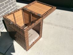 All weather Resin  Wicker Dog House-2