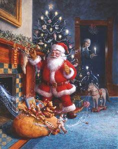 images noel - Page 9 Christmas Scenes, Vintage Christmas Cards, Santa Christmas, Christmas Pictures, Winter Christmas, Christmas Time, Father Christmas, Christmas Glitter, Primitive Christmas
