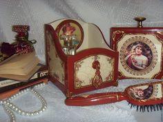 Купить Короб для парфюма деревянный декупаж терракотовый цвет - короб, короб…